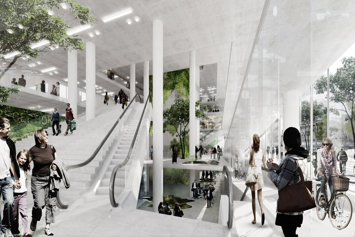 LOOP architects urban mountain rendering inde