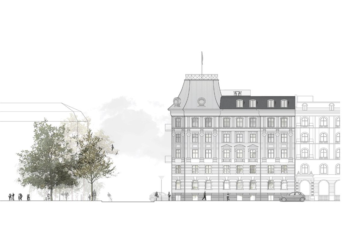 LOOP architects tagboliger KBH facadetegning