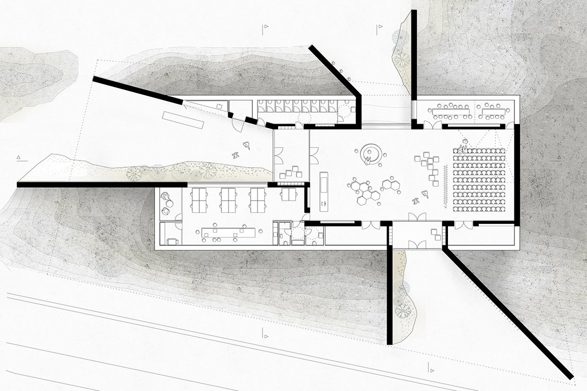 LOOP Architects_Nationalparkcenter Thy_plan